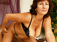 Pauline 66 likes to dress up in kinky underwear. Shes a hardcore granny!
