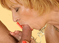 Veronica 54 loves to suck cock and swallow cum. Oral specialist granny!